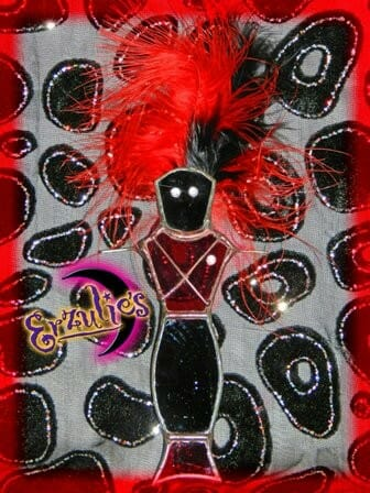Voodoo Dolls ~ Papa Legba Stained Glass Voodoo Dolls
