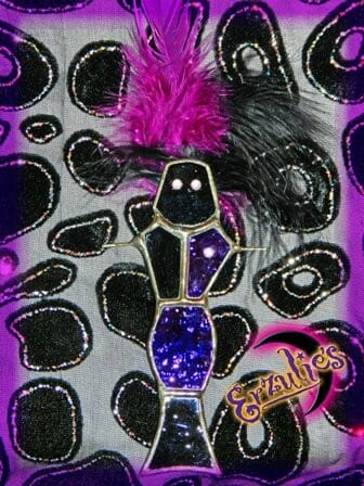 Voodoo Dolls ~ Ghede Stained Glass Voodoo Dolls