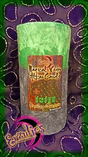 Voodoo Altar Candles ~ Ogoun ~ for Banishing & Protection Voodoo Spells