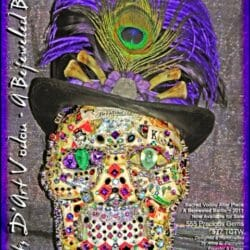 Voodoo Gemstone Skulls and Sacred Voodoo Jeweled Altar Art Voodoo Dolls and Gemstone Voodoo Skulls for Baron Samedi