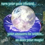 Sharing with you my magnificent, magical crystal ball, just in love with it's vibrancy and movement. This was gifted to me over 20+ years ago for the grand opening of Erzulie's Authentic Voodoo, by the legendary Richard Moffitt, one of my mentors (of the famed Mystic Curio shop on Rue Royal for 40+ years...may he rest in peace). I am a huge fan of scrying techniques, as it not only allows for clarity, spiritual and psychic attunement but also pulls up your own deeper subconscious and unresolved inner issues by forcing you to see into the mind's eye and dealing with the hidden energies. It's a powerful tool for both divination and contemplation, profound awareness and guidance. For those seeking answers to deeper issues, emotional struggles, roots of behavioral patterns or self sabatoging tendencies, I share with you this precious crystal ball to turn your gaze inward, connect to self and spirit and discover your magic within!