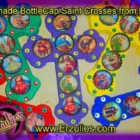 Saint Crosses, Bottlecap Saints, Day of the Dead, Skull Art, Saint Cross, Saint Crosses, Day of the Dead Altar Cross, Folk Art, Day of the Dead Art, Mexican Folk Magic, Sacred Crosses, Magical Amulets, Protection, Banishing, Blessings, Ancestors, Voodoo Magic, Voodoo Rituals, Magic Spells, Uncrossing, Voodoo Spells