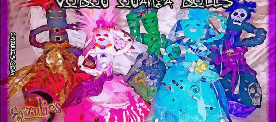 Voodoo Dolls, Powerful Voodoo Dolls and Authentic Voodoo Dolls.  A vast selection of handcrafted and ritualized sacred Voodoo Ouanga Dolls, New Orleans Voodoo Dolls, Voodoo Altar Dolls and more exclusively at Erzulie's Voodoo in New Orleans.